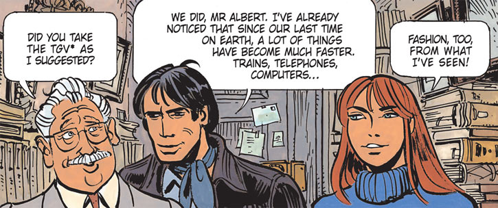 Laureline (Valerian graphic novels) with monsieur Albert