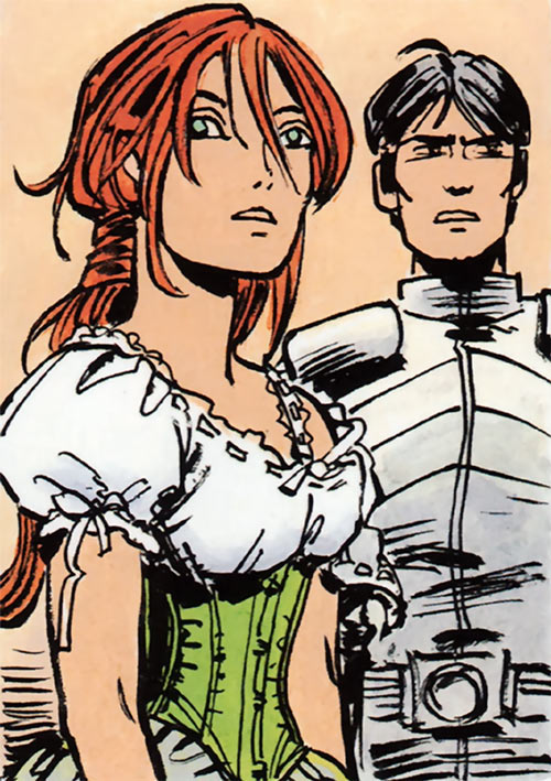 Laureline (Valerian graphic novels) in a frilly dress