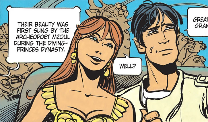 Laureline (Valerian graphic novels) looking happy