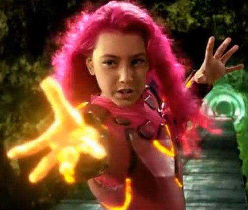 Lavagirl (Taylor Dooley in Adventures of Sharkboy and Lavagirl) burning glowing hand