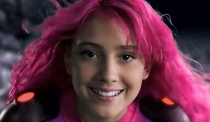 Lavagirl (Taylor Dooley) smiling