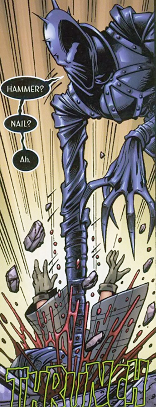 Lawbringer Qztr (Negation Crossgen comics) murdering someone