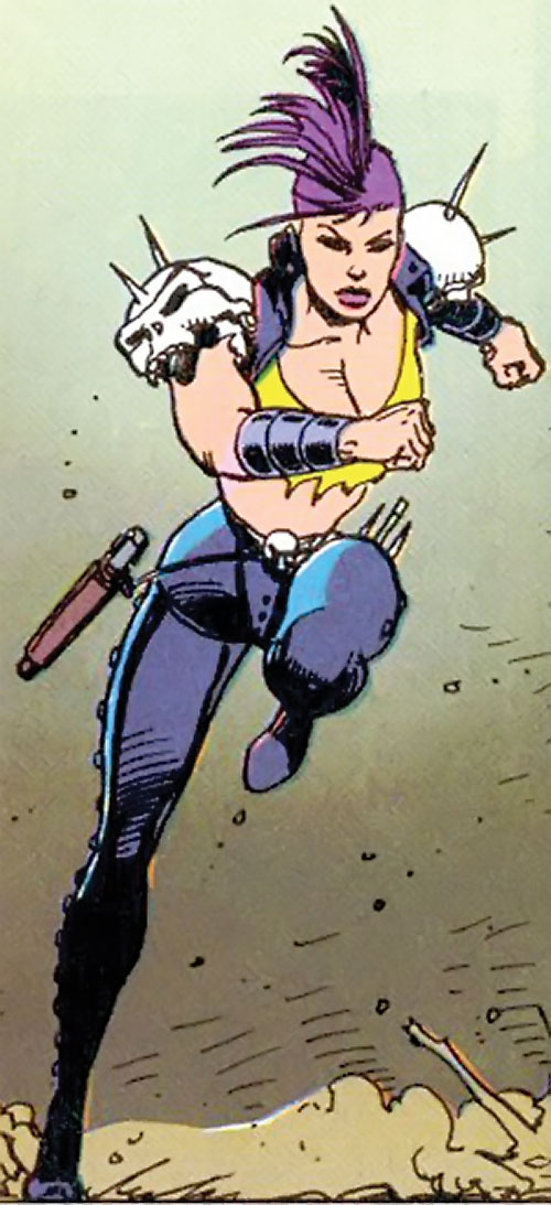 Layla of LEGION (DC Comics Bloodlines) running