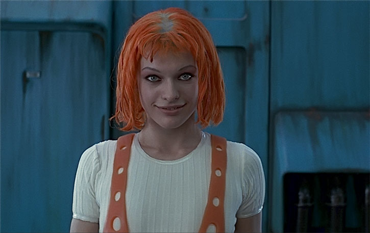 Leeloo (Milla Jovovitch) smiling