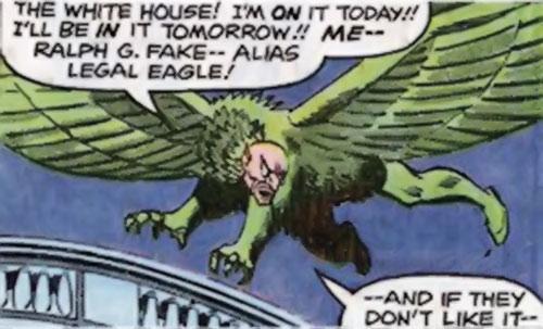 Legal Eagle (Hostess Comics) flying