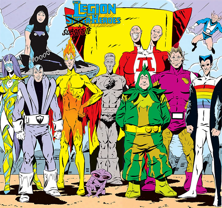 The Legion of Substitute Heroes (DC Comics) from the Who's Who