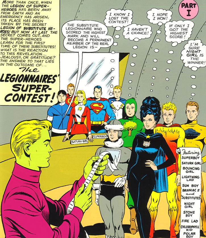 The Legion of Super-Heroes recruits a Sub