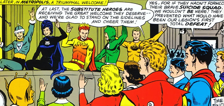 The Legion of Substitute Heroes receives a parade