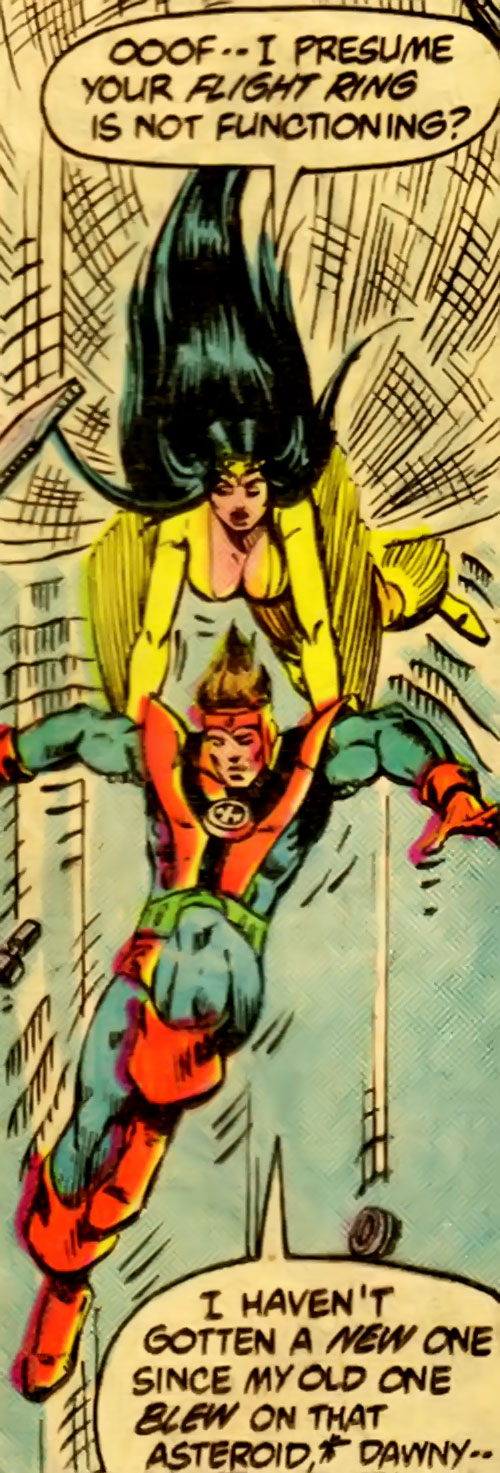 Legion of Super-Heroes Dawnstar and Colossal Boy (DC Comics)