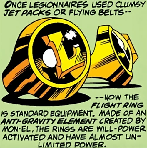 Legion of Super-Heroes iconic flight rings (DC Comics)