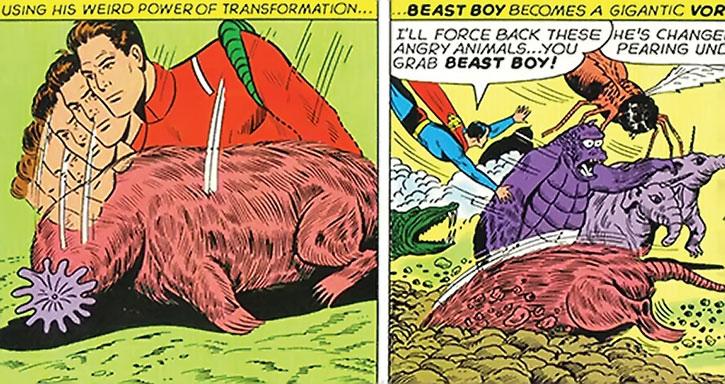 Beast Boy turns into a Vornian Mole