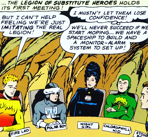 Legion of Substitute Heroes (Subs) (DC Comics) - meeting