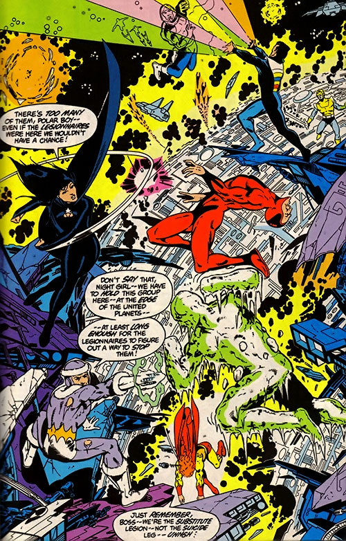 Legion of Substitute Heroes (Subs) (DC Comics) - fighting the Great Darkness