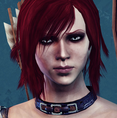 Leliana (Dragon Age Origins) face closeup From Ashes mod