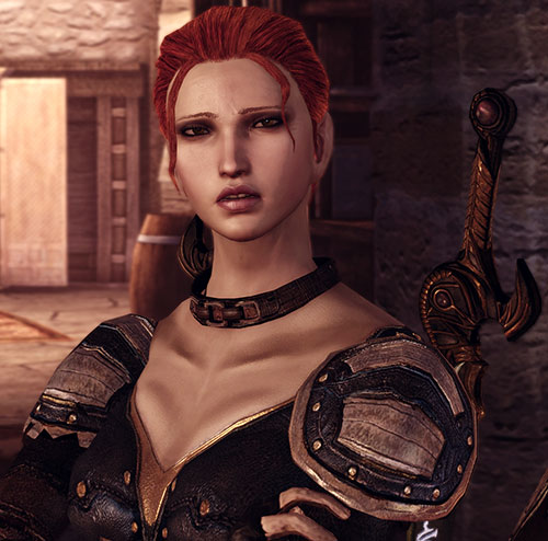 Leliana (Dragon Age Origins) in Leliana's Song - annoyed
