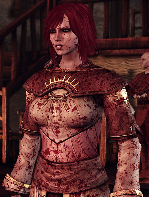 Leliana (Dragon Age Origins) Chantry robes and blood