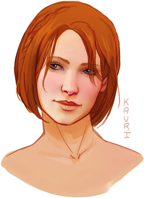 Leliana portrait - Dragon Age - kauriart.tumblr.com