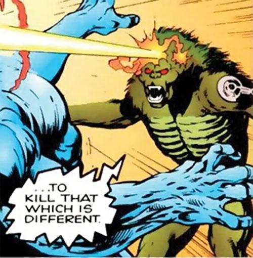 Lenz (Clan Destine enemy) (Marvel Comics) firing a mental beam