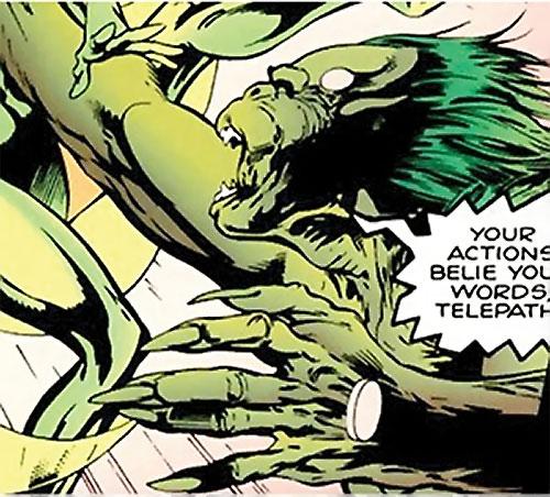 Lenz (Clan Destine enemy) (Marvel Comics) in battle