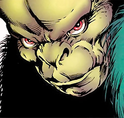 Lenz (Clan Destine enemy) (Marvel Comics) face closeup