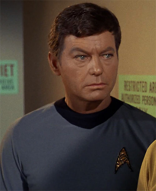 "Dr. Leonard ""Bones"" McCoy (Deforest Kelley in Star Trek) is sceptical"
