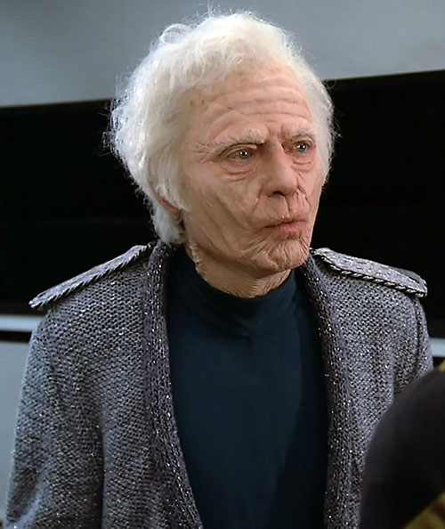 "Dr. Leonard ""Bones"" McCoy (Deforest Kelley in Star Trek) as a very old man"