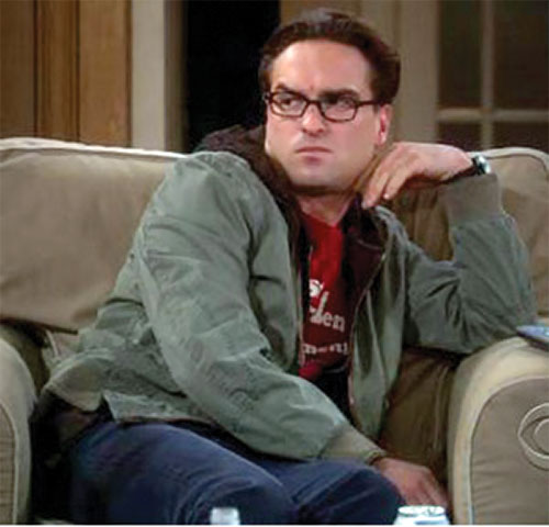Leonard Hofstadter (Johnny Galecki in Big Bang Theory) disapproves