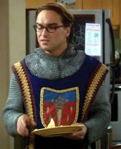 Leonard Hofstadter (Johnny Galecki in Big Bang Theory) in chainmail
