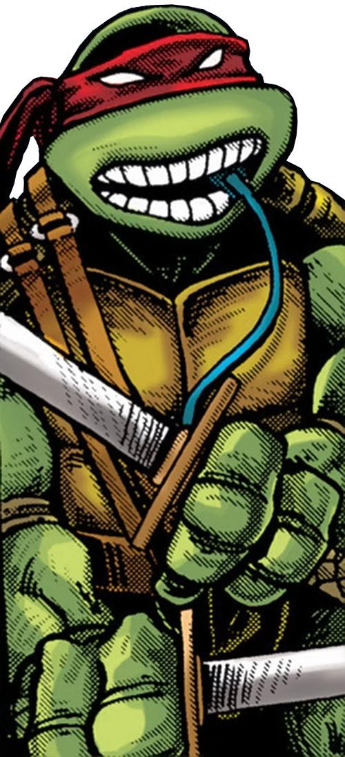 Leonardo of the Teenage Mutant Ninja Turtles (TMNT comics) with breathing tube