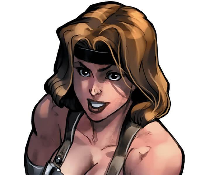 Letha (Marvel Comics) (Grapplers) portrait by Michael Ryan