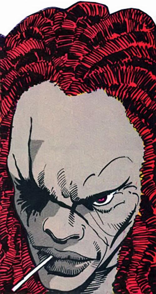 Leviathan (Silver Sable | Nick Fury enemy) (Marvel Comics) face closeup
