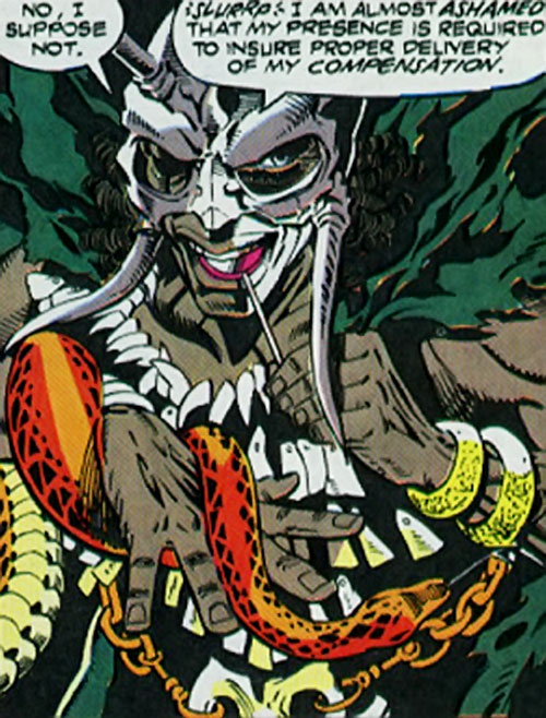 Leviathan (Silver Sable | Nick Fury enemy) (Marvel Comics) in full regalia