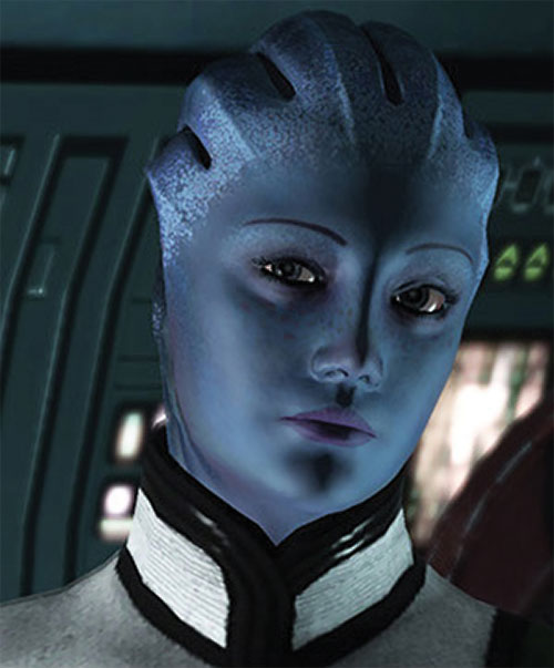 Liara T'Soni (Mass Effect) looks dubious