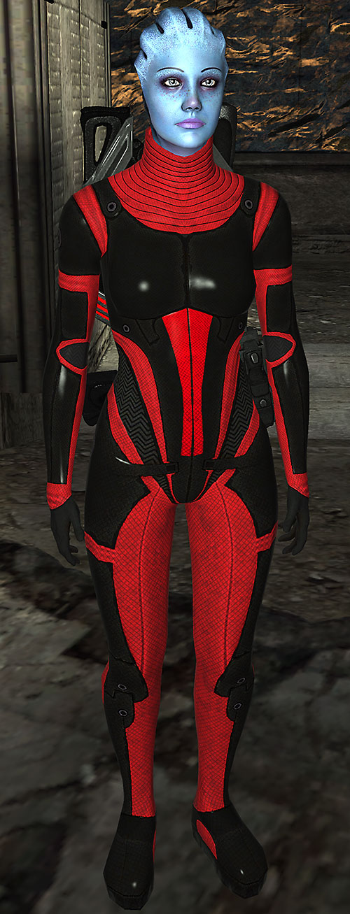Liara T'Soni (Mass Effect) in Colossus Armor