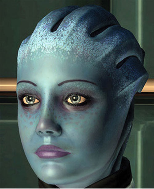 Liara T'Soni (Mass Effect) face closeup
