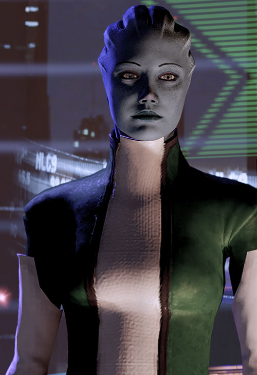 Liara T'Soni (Mass Effect 2) in her Nos Astra office