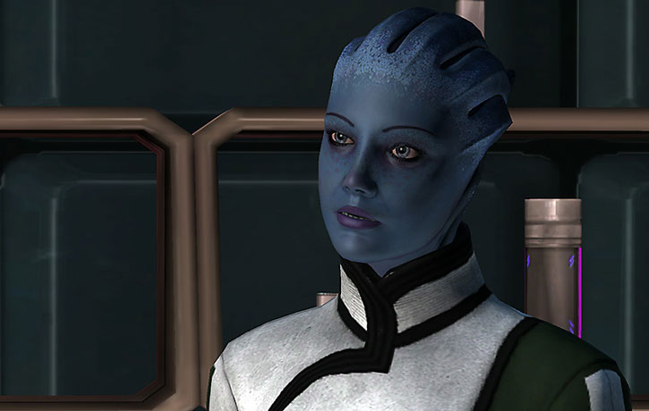 Liara talking in the Normandy SR1