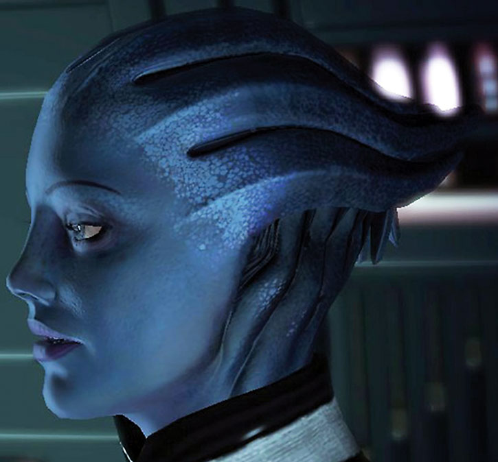 Side view of Liara's head