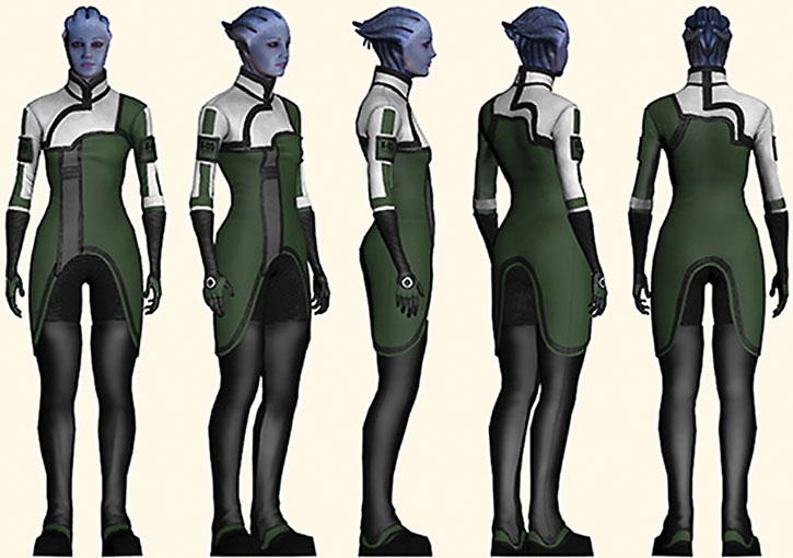 Liara T'Soni ME1 character model sheet