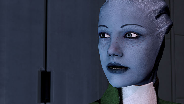 Portrait of Liara T'Soni in ME2