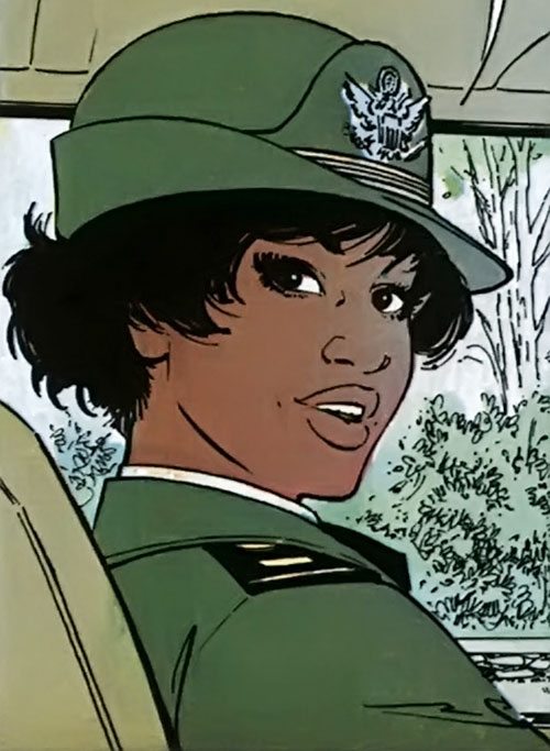 Lieutenant Jones (XIII comics) with the Army Aviation ladies' hat