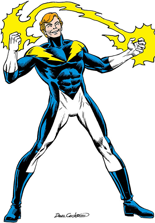 Lightning Lad (DC Comics) (Legion of Super-Heroes) by Dave Cockrum in the Who's Who