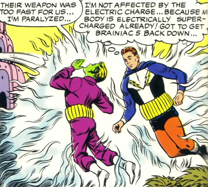 Lightning Lad (Garth Ranzz) and Brainiac