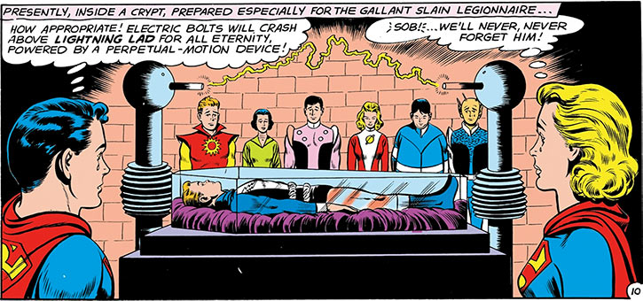 Lightning Lad (Garth Ranzz)'s coffin