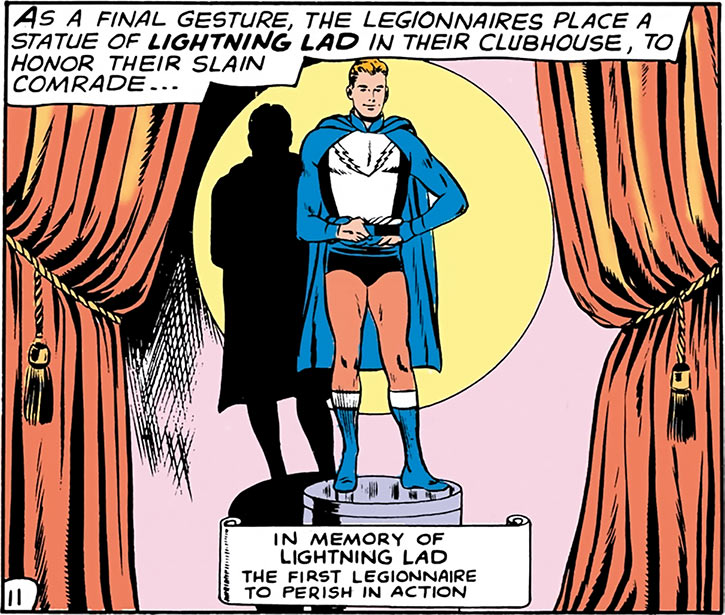 Lightning Lad (Garth Ranzz) memorial statue
