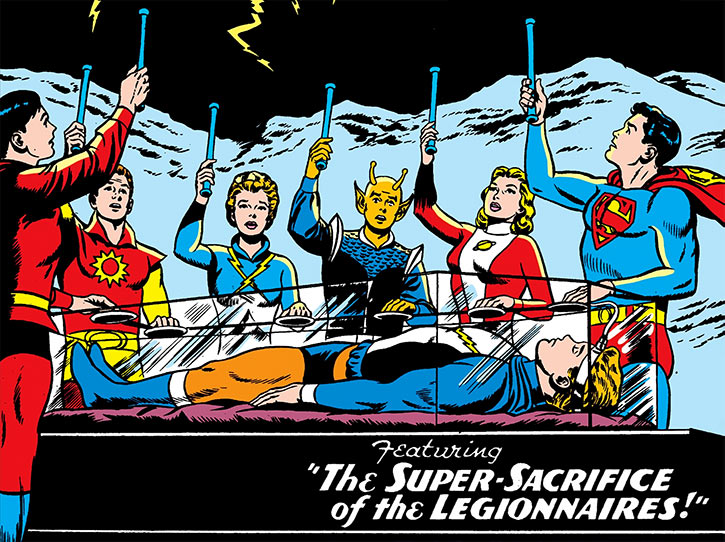 Lightning Lad of the Legion of Super-Heroes (Silver Age DC Comics) sacrifice ceremony resurrection