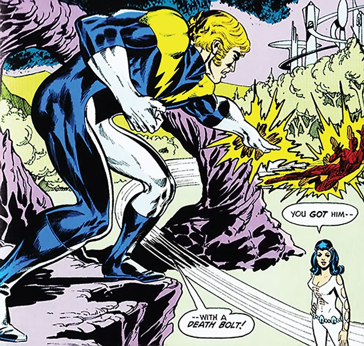 Lightning Lad (Garth Ranzz) and Phantom Girl