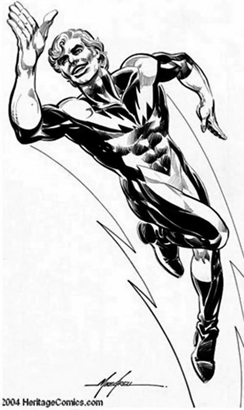 Lightning Lad of the Legion of Super-Heroes (pre-reboot DC Comics) B&W sketch by Grell