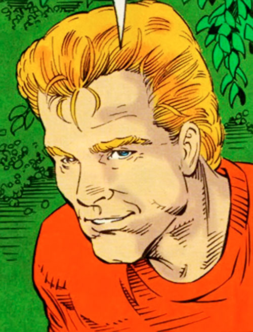 Lightning Lad of the Legion of Super-Heroes (pre-reboot DC Comics) 5 year later face closeup