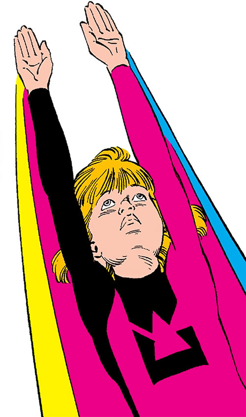 Lightspeed (Marvel Comics) (Julie Power Pack) flying low angle